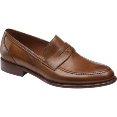 ジョンストンアンドマーフィー メンズ ドレスシューズ シューズ Bryson Penny Loafer Cognac Italian Calfskin Leather
