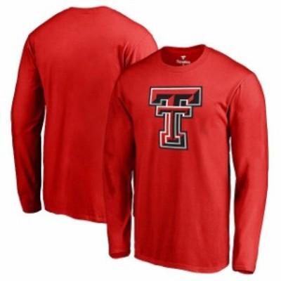 Fanatics Branded ファナティクス ブランド スポーツ用品  Fanatics Branded Texas Tech Red Raiders Red Primary Logo Long Sleeve T-Sh