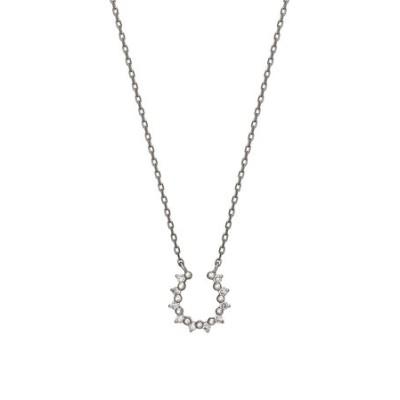 プラチナ ダイヤモンドホースシューネックレス