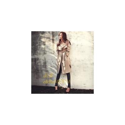 トレンチコート レディース スプリングコート ゆったり 秋物 コート ロング丈 長袖 着痩せ 通学 無地 通勤 おしゃれ 新作 大きいサイズ アウター