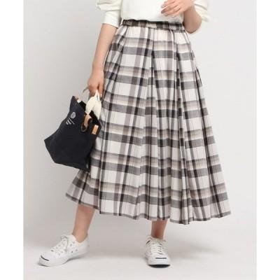 スカート 【XS〜Lサイズあり・洗える】ガーゼチェックスカート