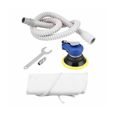 エアサンダー 新空ホース付き 空気圧ポリッシャー オービタルサンダー ハンドサンディングツール 円形 洗車