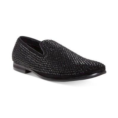 スティーブ マデン スリッポン・ローファー シューズ メンズ Men's Caviar Rhinestone Smoking Slipper Black