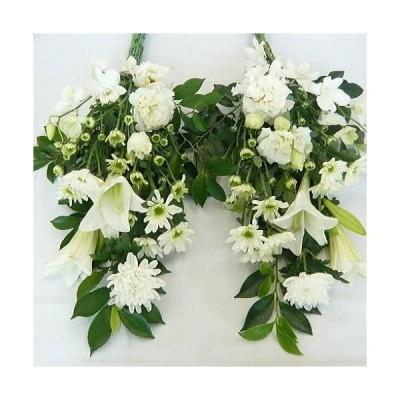 生花 お供えの花/仏花・墓花 白でまとめた豪華なタイプ お彼岸 彼岸 秋彼岸 お悔やみ