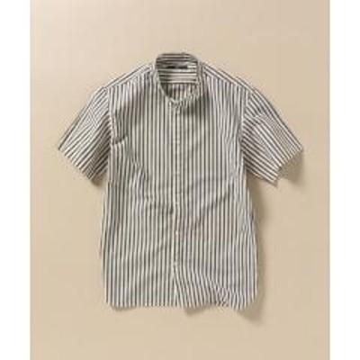 シップスSC: 形態安定加工 ポプリン バンドカラー シャツ【お取り寄せ商品】