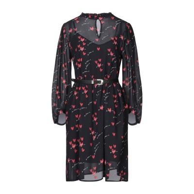 DIXIE ミニワンピース&ドレス ブラック M レーヨン 100% ミニワンピース&ドレス
