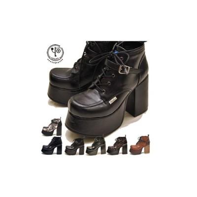 ヨースケ YOSUKE 靴 厚底レースアップブーツ ショート丈 レディース※(予約)は3営業日内に発送