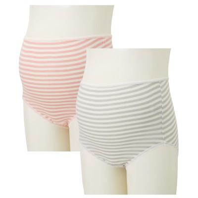 【妊娠初期―臨月】綿100%マタニティショーツ2枚組 (マタニティショーツ) Maternity clothing