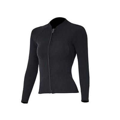 FFLOWER Wetsuits Top Jacket Women 2mm Neoprene Long Sleeve Shirt with Front