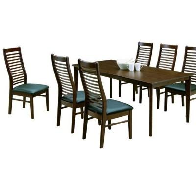 ダイニングテーブルセット 6人掛け 7点 テーブル幅180 木製 北欧 モダン シンプル