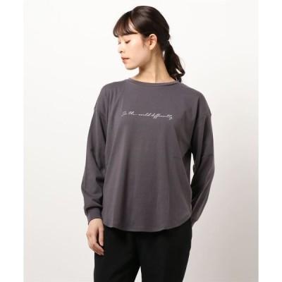 tシャツ Tシャツ 筆記ロゴロンT