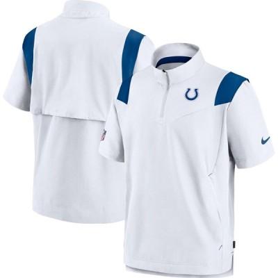 インディアナポリス・コルツ Nike Sideline Coaches Short Sleeve Quarter-Zip ジャケット - White