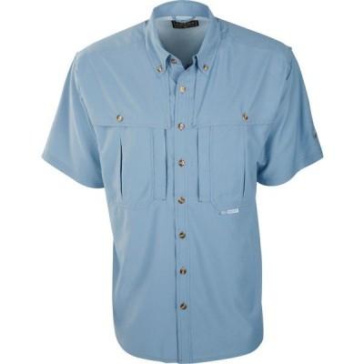 ドレークウォータフォール シャツ トップス メンズ Drake Waterfowl Men's Flyweight Wingshooter Short Sleeve Shirt LightBlue