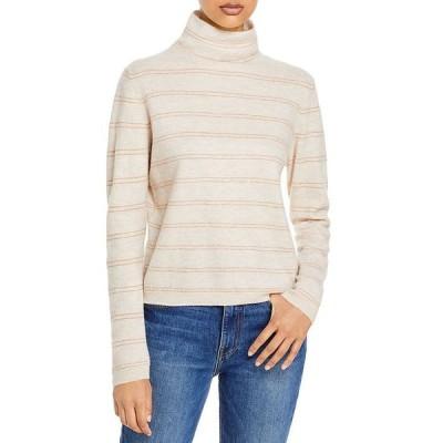ヴィンス レディース ニット・セーター アウター Striped Cashmere Turtleneck Sweater