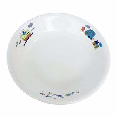国産強化磁器 子ども食器 深皿 のりもの クリストバライト強化磁器 A3051-32