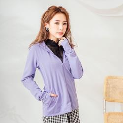 【E‧Heart】高透氣抗UV防曬外套(涼感顯瘦款-紫)