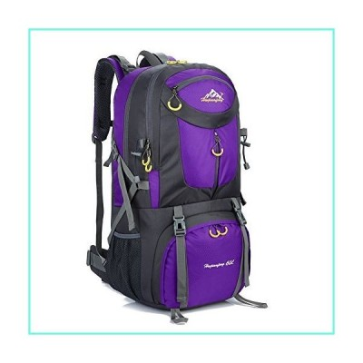 SUGOIDAN Hiking Backpack Waterproof Travel Fishing Climbing Camping 60L Hiking Daypack (Purple)並行輸入品