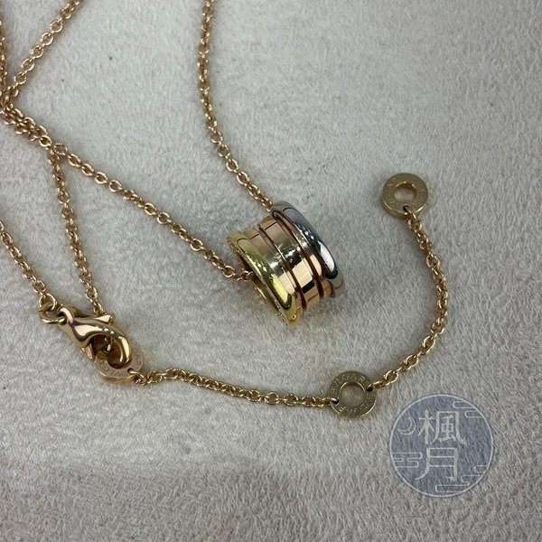 BRAND楓月 BVLGARI 寶格麗 K18 B.ZERO1 三色 金鍊 墜飾項鍊 飾品 配件