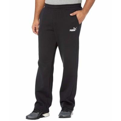 プーマ カジュアルパンツ ボトムス メンズ Big & Tall Essential Logo Pants Fleece Open Bottoms Cotton Black
