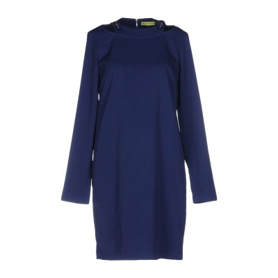 VERSACE ミニワンピース&ドレス ダークブルー 40 ポリエステル 95% / ポリウレタン 5% ミニワンピース&ドレス