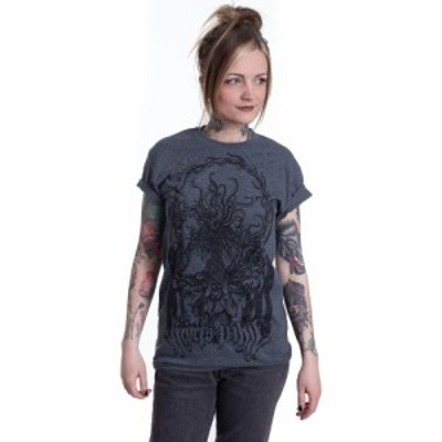 インペリコン Impericon レディース Tシャツ トップス - Cancer/Moonspeak Dark Heather - T-Shirt grey