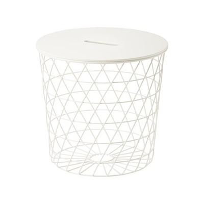 IKEA イケア 送料750円 KVISTBRO 収納テーブル, ホワイト  サイドテーブル サイズ44 cm