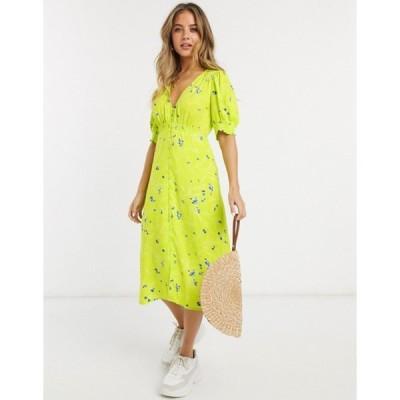 フレンチコネクション レディース ワンピース トップス French Connection floral printed midi tea dress