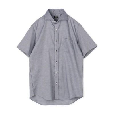 コットンドビー小紋柄シャツ