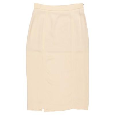 ロシャス ROCHAS 7分丈スカート サンド 44 レーヨン 95% / ポリウレタン 5% 7分丈スカート