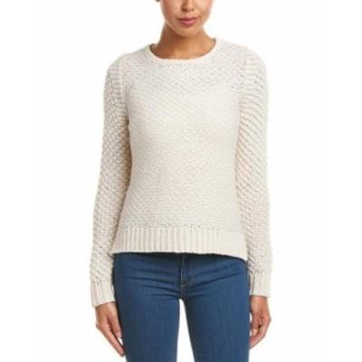 ファッション トップス Duffy Texture Stitch Wool-Blend Sweater L White