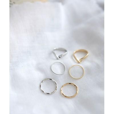 (marjour/マージュール)3SET RING/レディース シルバー