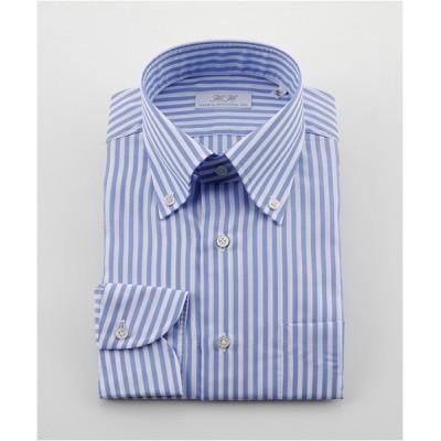 [シャツ]ダブルエイチ ドレスシャツ HH8S-B-025 ブルーストライプ 41-86