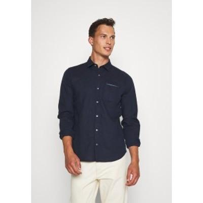 エスオリバー メンズ シャツ トップス Shirt - dark blue dark blue