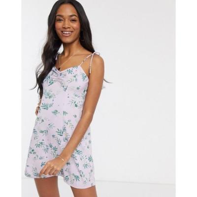 ヴェロモーダ ミニドレス レディース Vero Moda mini dress with tie straps in ditsy floral エイソス ASOS マルチカラー