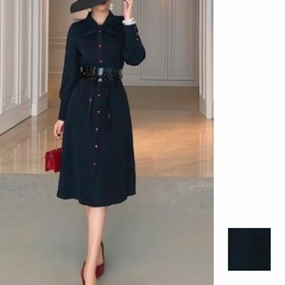 韓国 ファッション レディース ワンピース パーティードレス ひざ丈 ミディアム 秋 冬 新作 パーティー ブライダル naloG809 結婚式 お呼