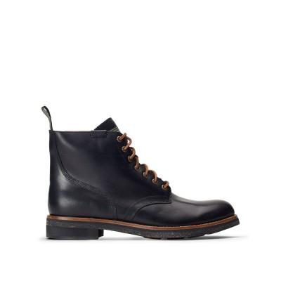 POLO RALPH LAUREN ショートブーツ ブラック 7 柔らかめの牛革 100% ショートブーツ