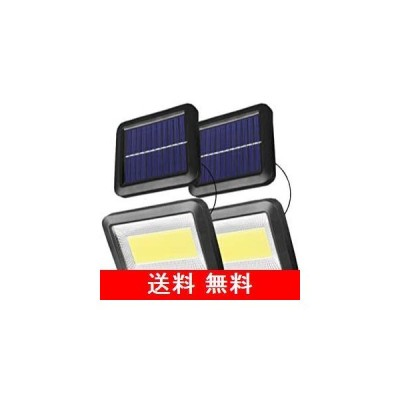 100COB分離型超明るいLEDソーラーライト センサーライト 5mコード付 Lamake 太陽光発電電気代不要 昼間自動充電夜間自動点灯 IP65