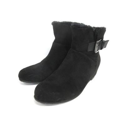 【中古】イング ing ショートブーツ インヒール ブラック M 210205E ※OIM 靴 レディース 【ベクトル 古着】