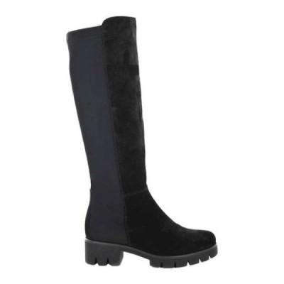 ガボール Gabor レディース ブーツ ロングブーツ シューズ・靴 93-715 Knee High Boot Black Suede