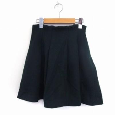 【中古】トランテアン ソン ドゥ モード 31 Sons de mode スカート フレア サイドジップ シンプル ウール 36 グリーン