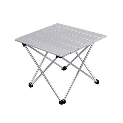 Yardwe 屋外折りたたみ式テーブル折りたたみ式ハイキングキャンプテーブル防水折りたたみ式デスク(シルバー?