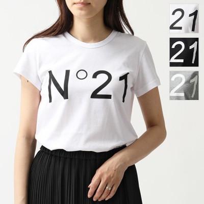 N°21 ヌメロヴェントゥーノ F031 4157 クルーネック 半袖 Tシャツ カットソー ロゴ カラー3色 レディース