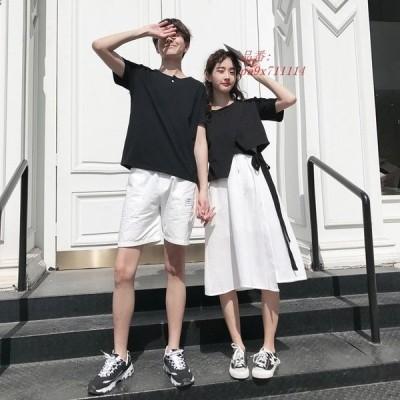 トップス Tシャツ ペアルック サマー 旅行 レディース プレゼント 半袖 カップル メンズ 韓国 夏 カジュアル ファッション