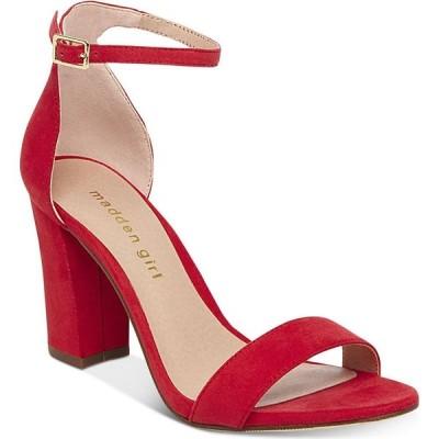マッデン ガール Madden Girl レディース サンダル・ミュール シューズ・靴 Bella Two-Piece Block Heel Sandals Bright Red