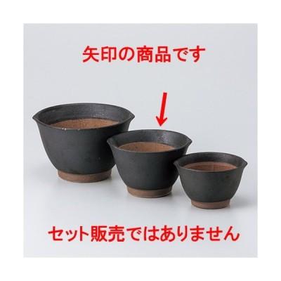 スリ鉢 和食器 / 黒マット麦とろ鉢(中) 寸法:13.2 x 12.2 x 8.2cm