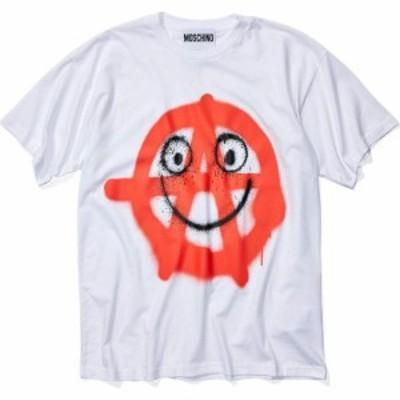 モスキーノ Moschino メンズ Tシャツ トップス Happy Anarchy T-Shirt White