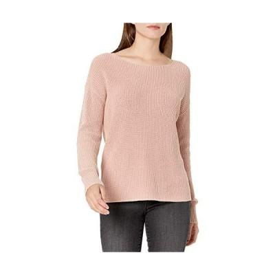 Amazonブランド - Goodthreads レディース スタンダードミネラルウォッシュ リブ編みボートネック プルオーバー セーター, ピンク(