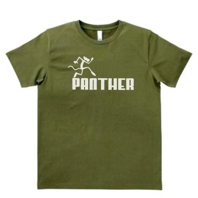 おもしろ パロディ バカ Tシャツ PANTHER カーキー MLサイズ