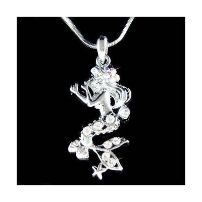 ネックレス インポート スワロフスキ クリスタル ジュエリー ~Mermaid~ made with Swarovski Crystal Beach Wedding Sea Nymph Starfish Necklace