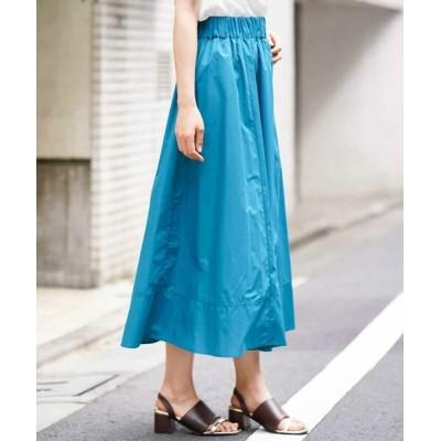 MK MICHEL KLEIN/エムケーミッシェルクラン 【洗える】ロングギャザースカート ブルー 38